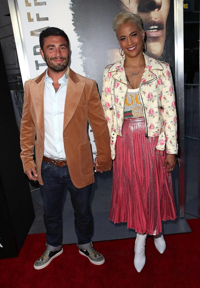 Real estate agent Zach Quittman and actress Paula Patton attend the premiere of <em>Traffik</em> at ArcLight Hollywood on April 19, 2018. (Photo: David Livingston/Getty Images)