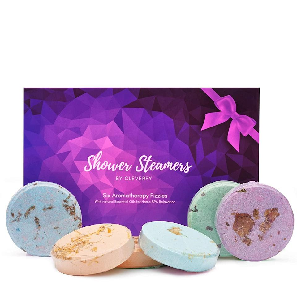 <p>The <span>Cleverfy Aromatherapy Shower Steamers</span> ($22) are great for making your bathroom feel like a spa.</p>