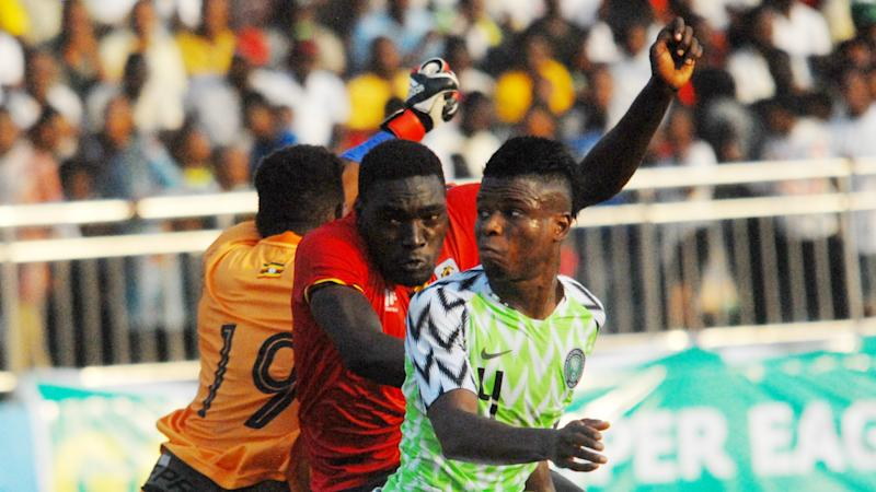 Nigeria and Uganda players party together after friendly