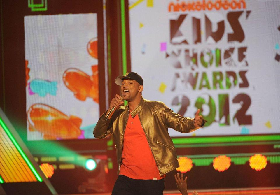 <p>Will Smith speaks onstage at Nickelodeon's 25th Annual Kids' Choice Awards held at Galen Center on March 31, 2012 in Los Angeles, California.</p>