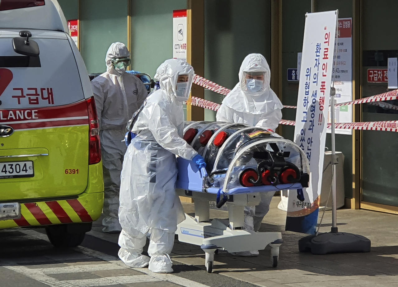 South Korea city urges 2.5M to stay home as virus cases grow