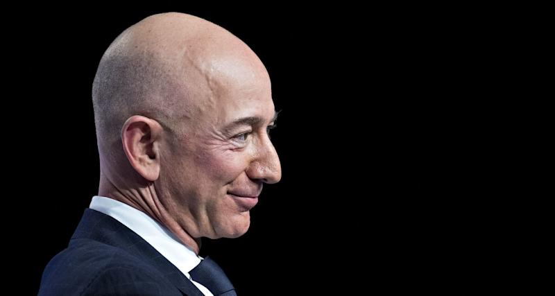 Jeff Bezos, founder and chief executive officer of Amazon.com Inc., listens during a discussion at the Air Force Association's Air, Space and Cyber Conference in National Harbor, Maryland, U.S., on Wednesday, Sept. 19, 2018. (Photo: Andrew Harrer/Bloomberg via Getty Images)
