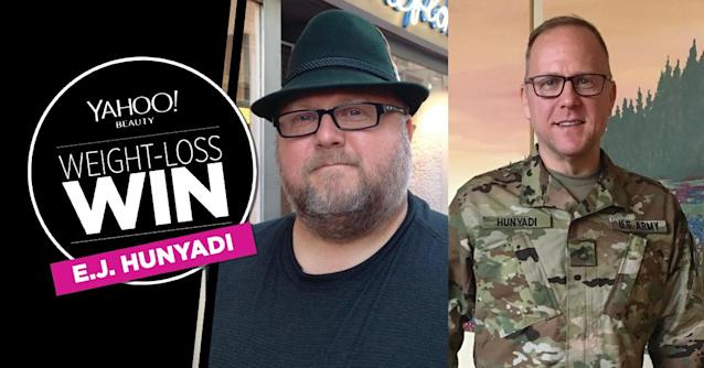 E.J. Hunyadi lost 147 pounds.