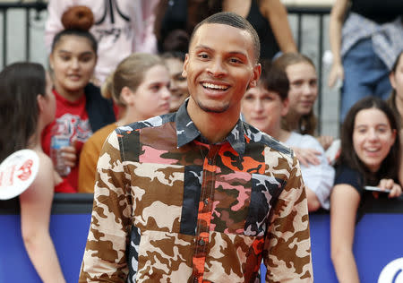 Andre De Grasse arrives at the iHeartRadio MuchMusic Video Awards (MMVA) in Toronto, Ontario, Canada August 26, 2018. REUTERS/Mark Blinch
