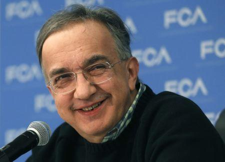 Fiat Chrysler Automobiles CEO Sergio Marchionne smiles during the North American International Auto Show in Detroit