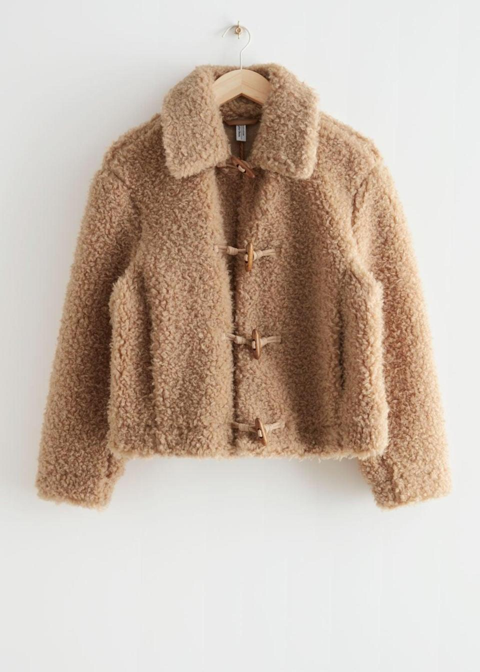 <p><span>&amp; Other Stories Fluffy Faux Shearling Jacket</span> ($129) </p>