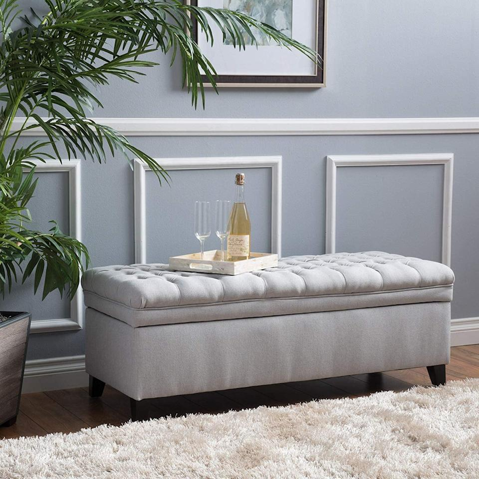 <p>This <span>Laguna Living Room Storage Ottoman</span> ($170) will add not only some style to your room but also extra storage space.</p>