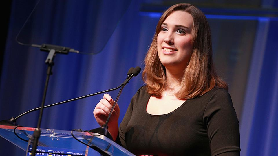 Democratic nominee Sarah McBride has become the first transgender person elected to the United States senate. Photo: Getty