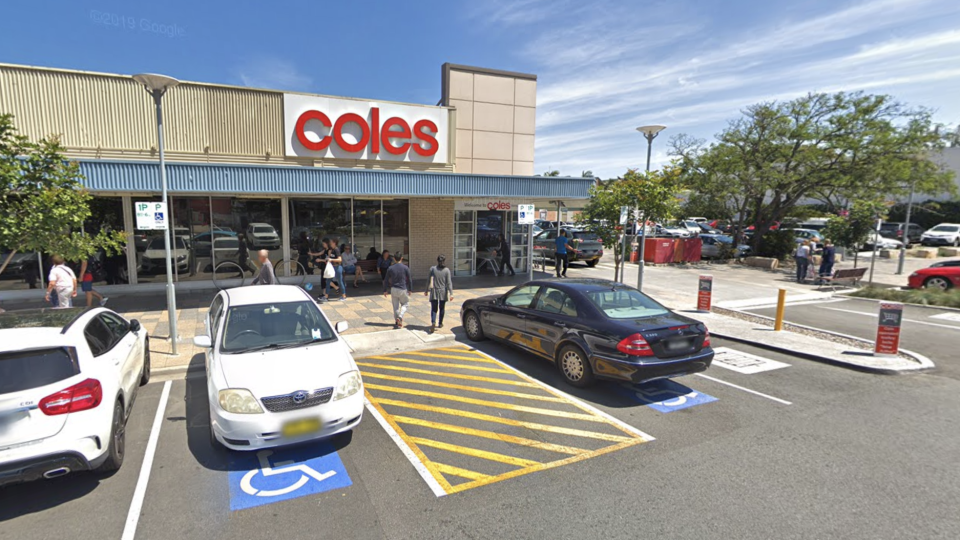 Coles Ramsgate is seen from the supermarket carpark.