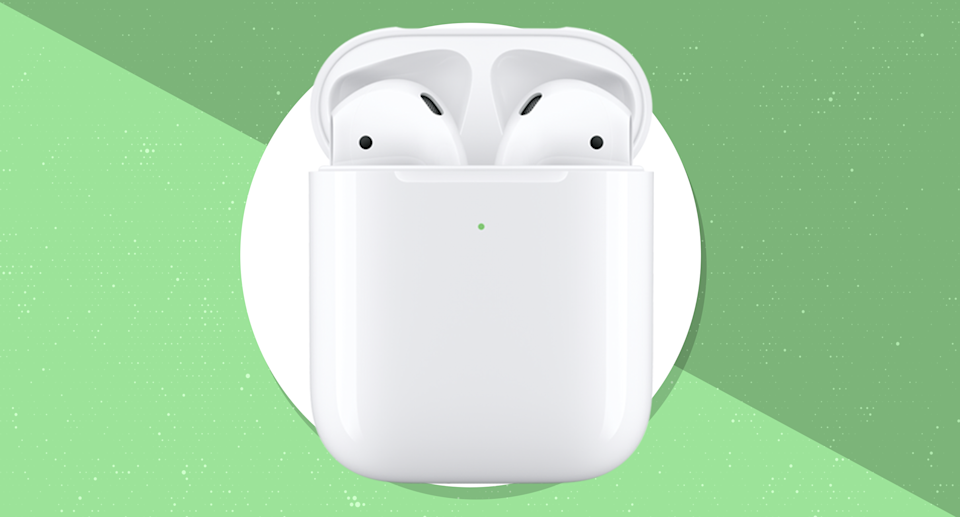 Lay the case on a charging pad, and your AirPods juice with no wires. (Photo: Apple)