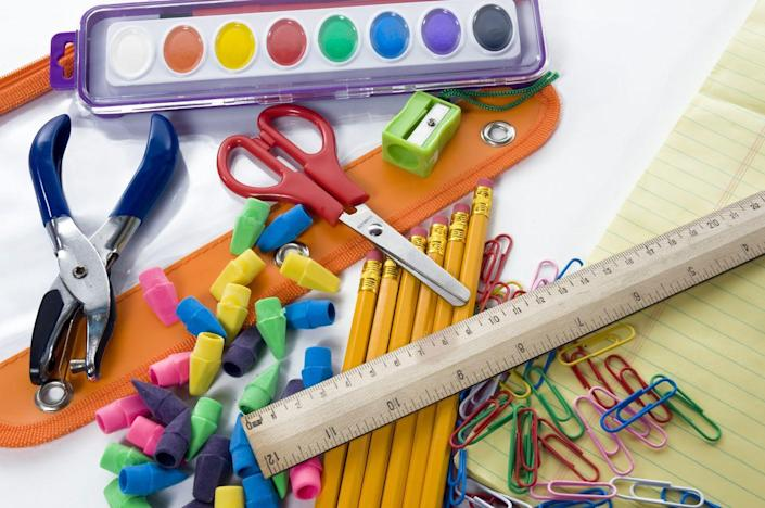 """<p>Because every house with school-age kids needs one. """"Fill a clear plastic bin with pencils, scissors, rulers, and other supplies, so your child doesn't burn through precious time hunting for supplies every day,"""" says Josel. """"When the assignments are done, everything gets returned to the bin and your child sets up his or her <a href=""""https://www.goodhousekeeping.com/childrens-products/kids-backpack-reviews/g149/best-kids-backpacks/"""" rel=""""nofollow noopener"""" target=""""_blank"""" data-ylk=""""slk:backpack"""" class=""""link rapid-noclick-resp"""">backpack</a> for the next morning.""""</p><p><a class=""""link rapid-noclick-resp"""" href=""""https://www.amazon.com/mDesign-Stackable-Household-Organizer-Controllers/dp/B01M100JQP/?tag=syn-yahoo-20&ascsubtag=%5Bartid%7C10060.g.36311015%5Bsrc%7Cyahoo-us"""" rel=""""nofollow noopener"""" target=""""_blank"""" data-ylk=""""slk:SHOP STORAGE CONTAINERS"""">SHOP STORAGE CONTAINERS</a></p>"""