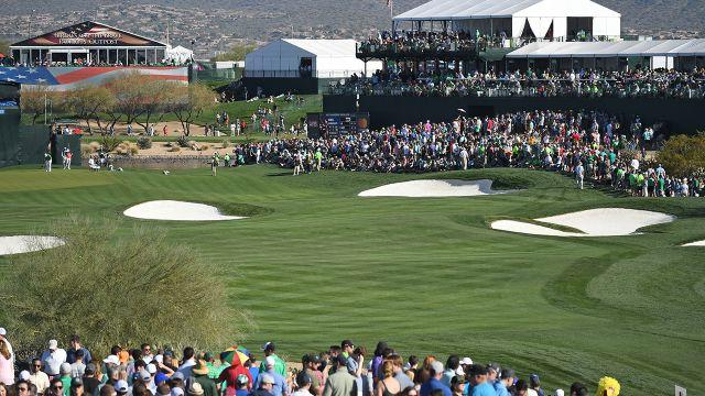 The 17th at the Phoenix Open. Image: Getty