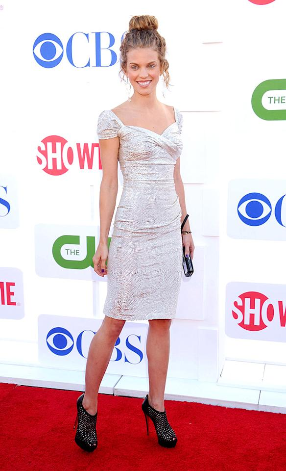 """90210"" minx AnnaLynne McCord looked like a hot mess from head to toe upon arriving at the TV Critics Association summer soiree on Sunday evening. Truth be told, her dress isn't half bad, but that loose updo and those mismatched black booties are giving us the cooties. (7/29/2012)<br><br><a target=""_blank"" href=""http://omg.yahoo.com/news/annalynne-mccord-turns-25-see-90210-casts-best-213000857.html"">AnnaLynne McCord turns 25</a>"