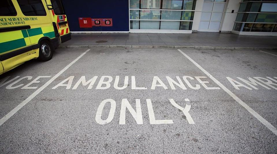 NHS ambulances parked outside an accident and emergency department (PA) (PA Archive)