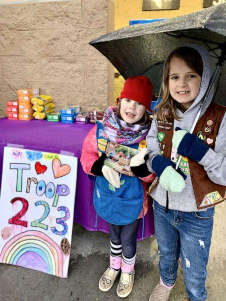 PHOTO: Virginia Beach-based girl scouts create a virtual cookie booth to donate cookies to local hospitals. (Courtesy Kacey Farrell)