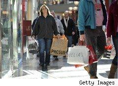 Consumers shopping in the mall