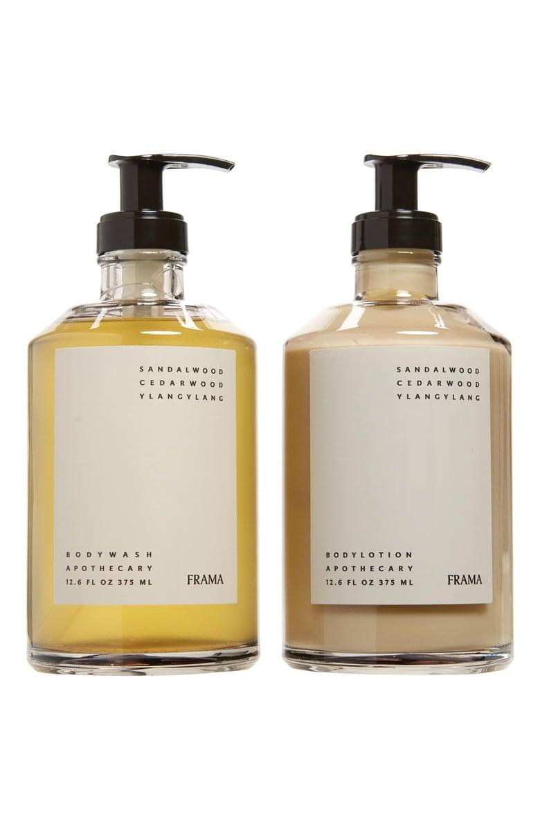 <p>Everyone needs great hand soap, and if you're feeling fancy, go for this <span>Goodee x Frama Apothecary Body Wash &amp; Lotion Set</span> ($100).</p>