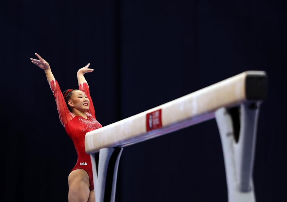 <p>Eaker was a member of the gold-medal-winning 2018 and 2019 World Championship teams. The 18-year-old is committed to the University of Utah. She also is the 2018 and 2019 national silver medalist on beam.</p>