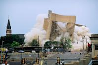 <p>In April of 1995, the Alfred P. Murrah Federal Building in Oklahoma City was flattened by a homemade bomb found in a parked car. 168 deaths were reported with thousands injured. Timothy McVeigh and others were found culpable for the bombings and were convicted. </p>