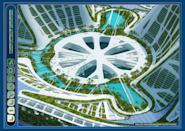 The multifunctional programming is based on three marinas and three mountains dedicated respectively to the work, the shops and the entertainments.