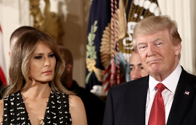 Melania Trump's Rep Would Like You to Know She Isn't 'Miserable' With Donald