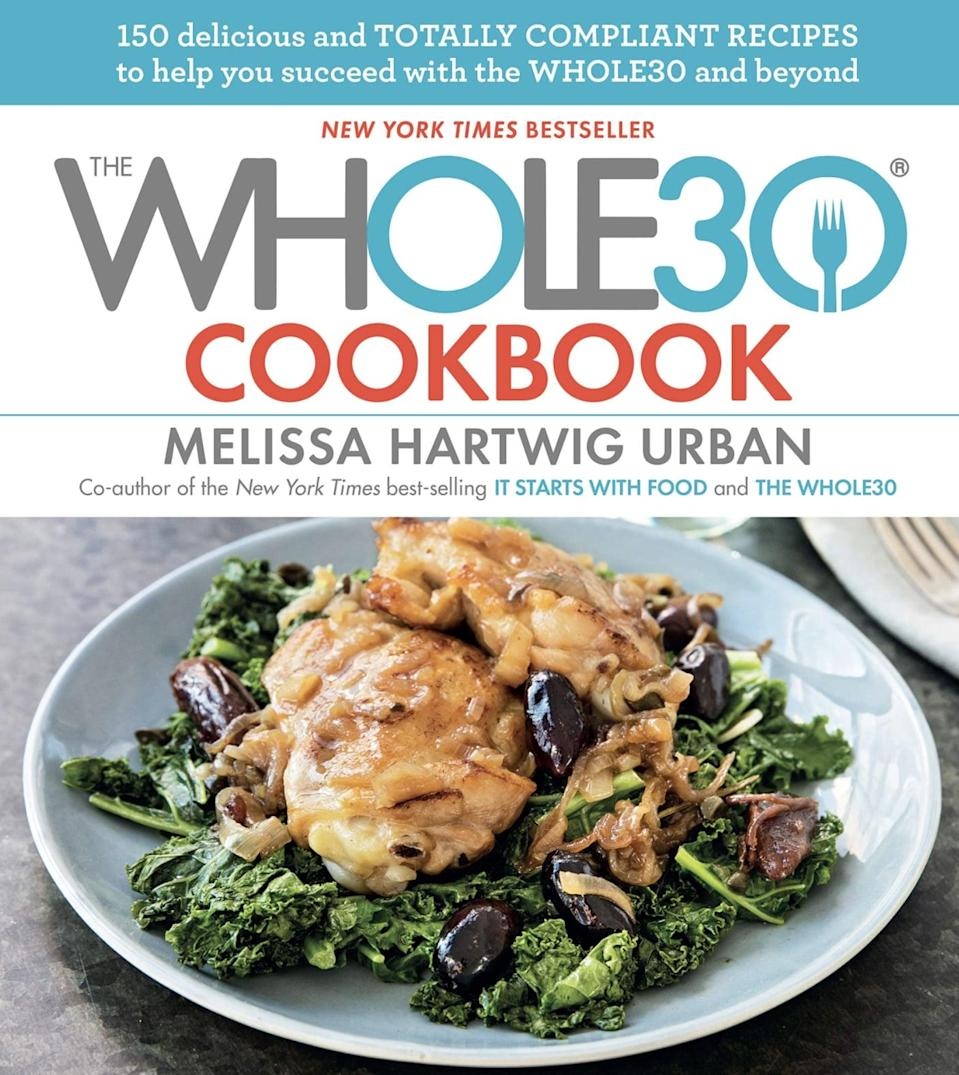 "<p>The Whole30 program is all about <a href=""https://www.popsugar.com/fitness/What-Whole30-Diet-31927215"" class=""link rapid-noclick-resp"" rel=""nofollow noopener"" target=""_blank"" data-ylk=""slk:eliminating inflammatory food groups"">eliminating inflammatory food groups</a> including sugar, grains, dairy, alcohol, and legumes. Written by co-creator Melissa Hartwig, <span><strong>The Whole30 Cookbook: 150 Delicious and Totally Compliant Recipes to Help You Succeed With the Whole30 and Beyond</strong></span> ($17) has over 150 recipes and tips to efficiently meal plan while following the month-long diet. One Amazon reviewer described the recipes as ""easy and flavorful without any modifications.""</p>"