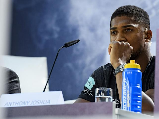 The undefeated Anthony Joshua will fight Klitschko on April 29 (Bongarts/Getty)