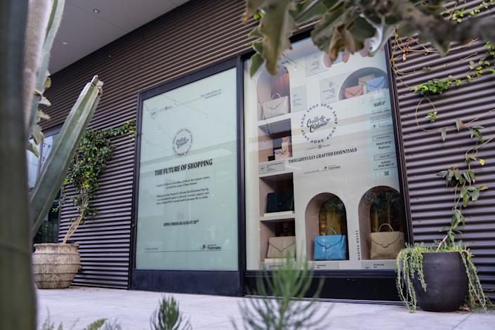 """A window display of goods is a major part of Create & Cultivate's pop-up at Platform in Culver City. Available items mostly come from brands owned or run by women of color. <span class=""""copyright"""">(Kent Nishimura / Los Angeles Times)</span>"""