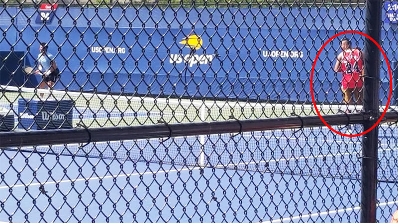 Fernando Verdasco and Nick Kyrgios, pictured here practicing side-by-side at the US Open.