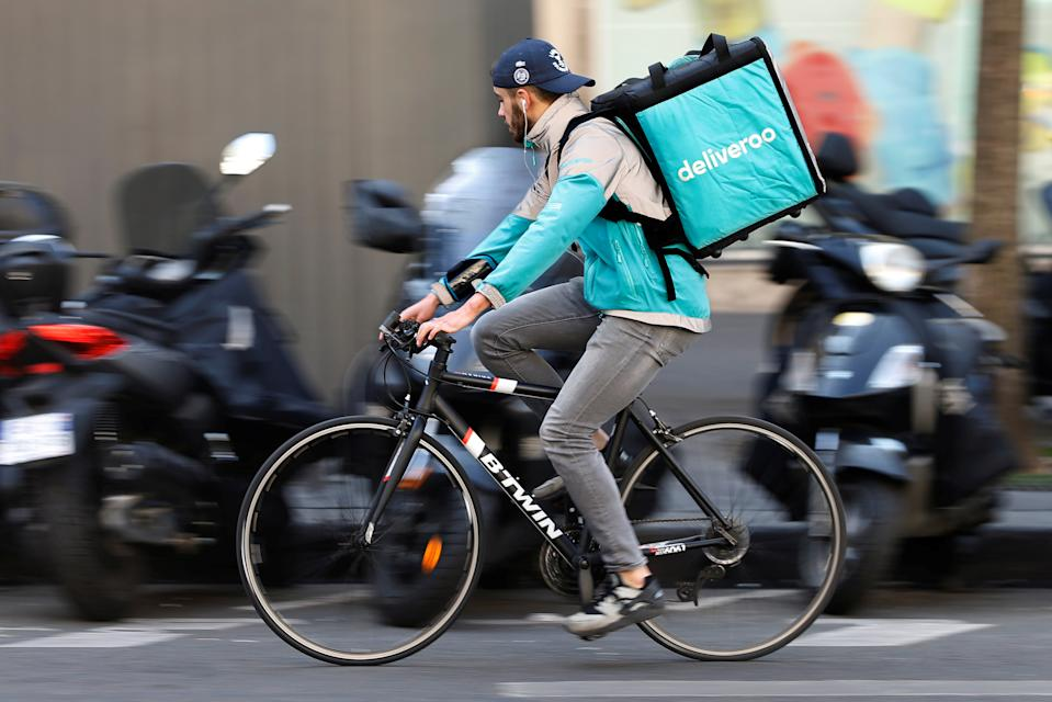 Deliveroo said it would sell £1bn in new shares in the offering. Photo: Charles Platiau/Reuters