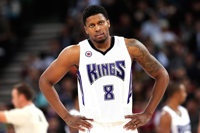 Rudy Gay listens to yet another criticism of his True Shooting percentage. (Lintao Zhang/Getty Images)