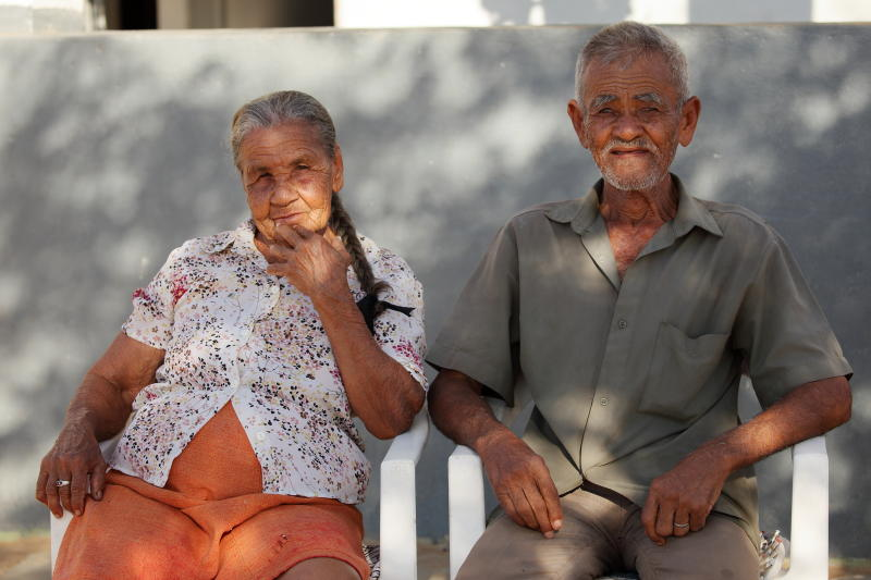 Old couple in Brazil