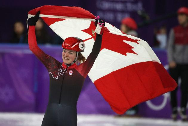 Canada's Kim Boutin won three medals in short-track speedskating.