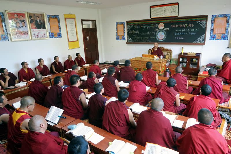 Government-organised media tour to Tibet Buddhist College in Lhasa