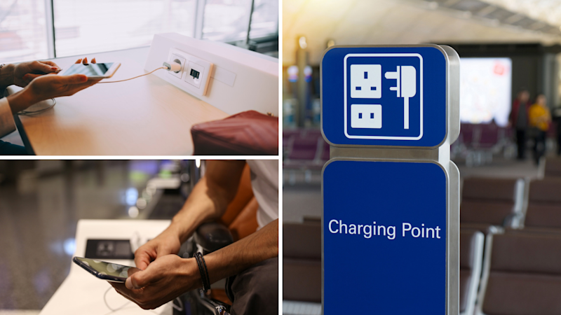 Security experts are warning against charging your phone with someone else's charger cord or at public USB charging stations. (Source: Getty)
