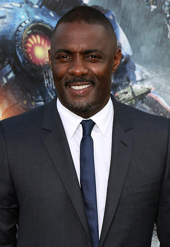 "HOLLYWOOD, CA - JULY 09:  Actor Idris Elba attends the premiere of Warner Bros. Pictures and Legendary Pictures' ""Pacific Rim"" at the Dolby Theatre on July 9, 2013 in Hollywood, California.  (Photo by David Livingston/Getty Images)"