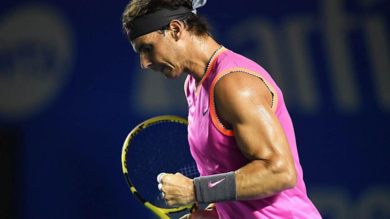 Rafael Nadal's biceps. (Photo by PEDRO PARDO/AFP/Getty Images)