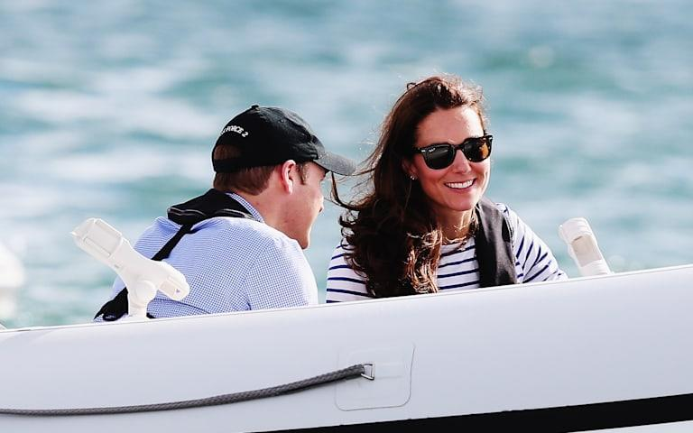 Kate Middleton and Prince William boat race
