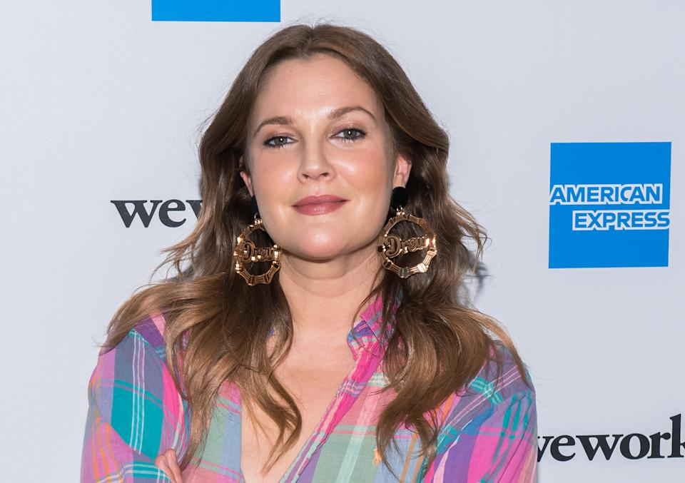 NEW YORK, NEW YORK - MAY 15: Drew Barrymore attends American Express and WeWork