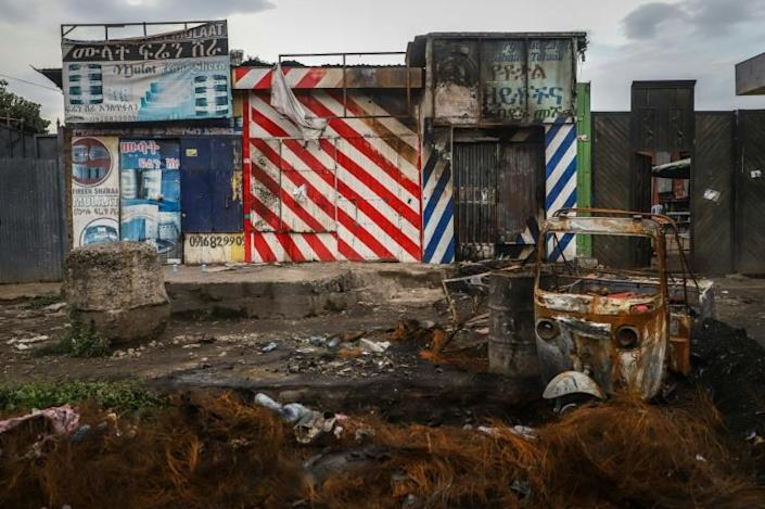 The aftermath of violence in the Oromo town of Shashamene in July, sparked by the killing of singer Hachalu Hundessa