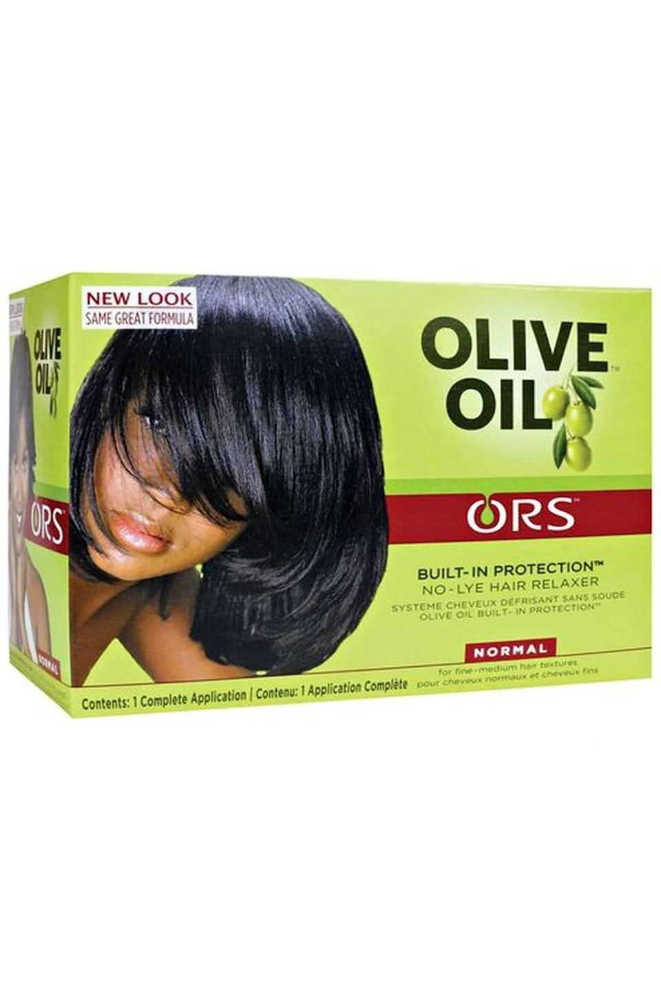 """<p><strong>ORS</strong></p><p>target.com</p><p><strong>$6.30</strong></p><p><a href=""""https://www.target.com/p/ors-olive-oil-no-lye-relaxer-normal/-/A-13044272"""" rel=""""nofollow noopener"""" target=""""_blank"""" data-ylk=""""slk:Shop Now"""" class=""""link rapid-noclick-resp"""">Shop Now</a></p><p>Hair relaxers can come at a steep price (I mean, they are pretty intense chemicals, so it makes sense) but <strong>you can still find a quality relaxer for <a href=""""https://www.cosmopolitan.com/style-beauty/a9169065/drugstore-beauty-products-2017/"""" rel=""""nofollow noopener"""" target=""""_blank"""" data-ylk=""""slk:basically no money"""" class=""""link rapid-noclick-resp"""">basically no money</a>.</strong> And because olive oil is the MVP in this product's formula, you won't have to sacrifice any softness or moisture to get your hair straight.</p>"""