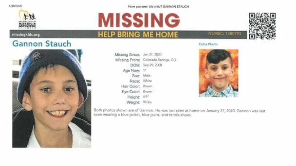 PHOTO: Gannon Stauch, 11, of Colorado Springs, Colo., disappeared while walking to a friend's house, Jan. 27, according to his stepmother. (El Paso County Sheriff's Office)