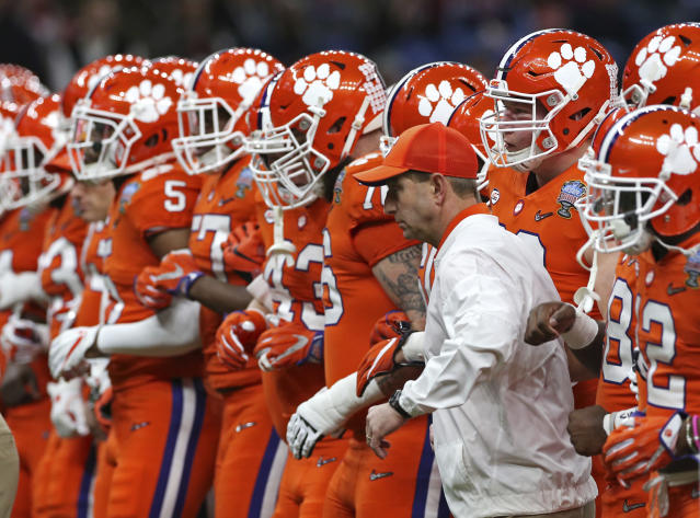<p><strong>50. Clemson</strong><br>Top 2017-18 sport: football. Trajectory: Steady. The grid-centric Tigers were 52nd for the second straight year, getting a rare contribution from men's basketball. Clemson was 25th in athletic expenditures in 2016-17, which says the school is not getting near enough all-sports bang for its buck. </p>