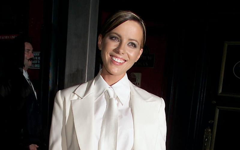 Kate Beckinsale seen in the suit at the premiere in 2001 -  Evan Agostini/ImageDirect