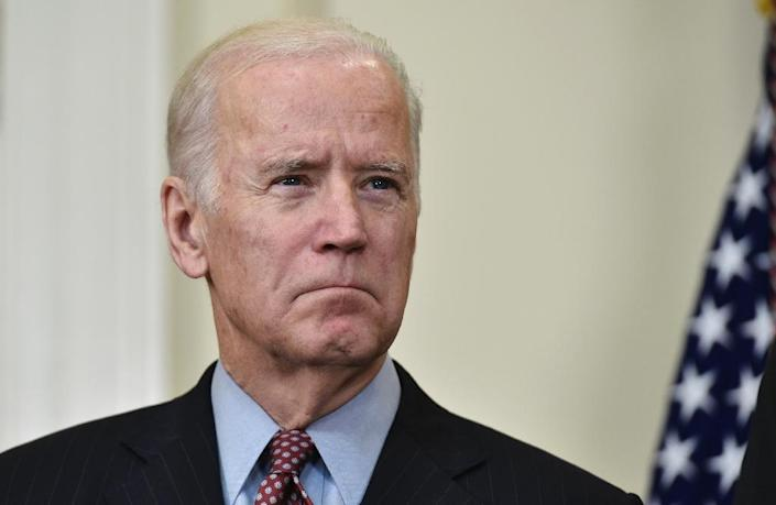 "Vice President Joe Biden said the US would ""wipe out this evil"", as he pledged to continue the fight against the Islamic State group (AFP Photo/Mandel Ngan)"