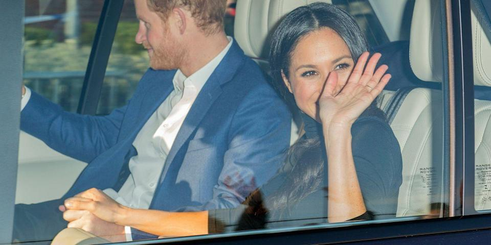 <p>We see you two, still holding hands even in the car.</p>