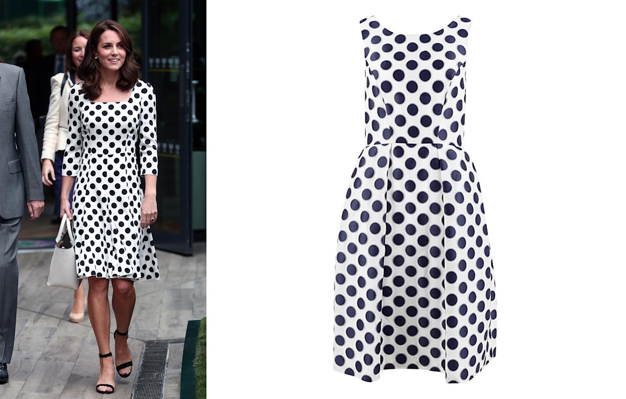 <p>Many may not have been able to afford the Duchess of Cambridge's £930 Dolce & Gabbana dress that the royal debuted at Wimbledon this year but it didn't stop the masses from scrambling for similar polka dot styles. In fact, spotted designs were the bestselling dresses of the summer.<br /><i>[Photo: Getty/John Lewis]</i> </p>