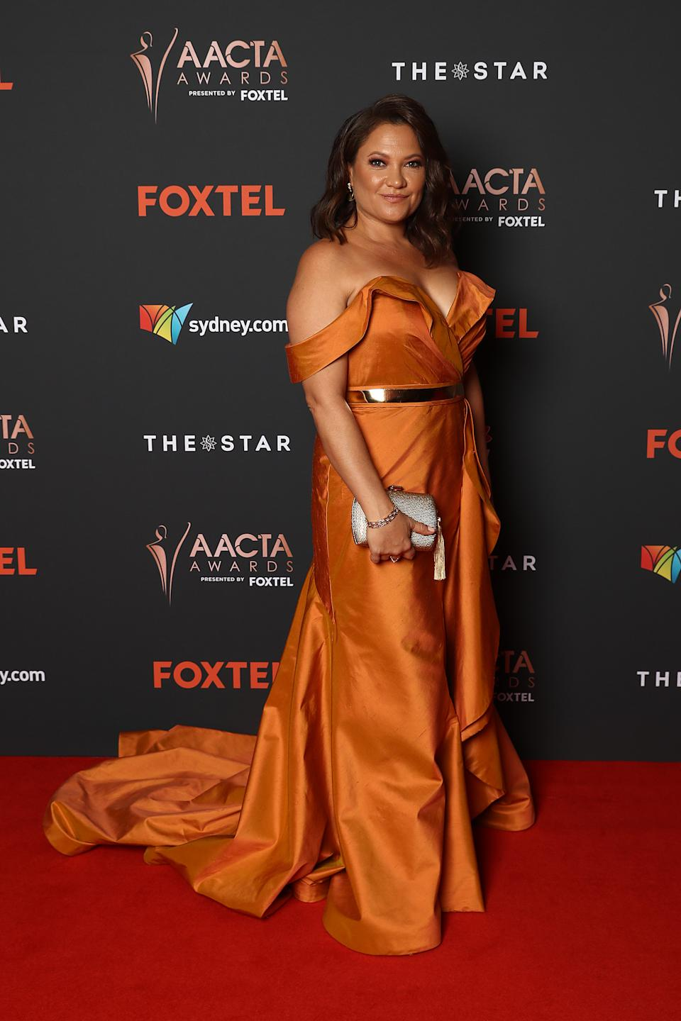 Ngaire Pigram arrives ahead of the 2020 AACTA Awards presented by Foxtel at The Star on November 30, 2020 in Sydney, Australia.