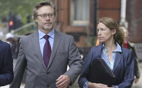 John Letts and wife Sally arrive at court  - Credit: SWNS