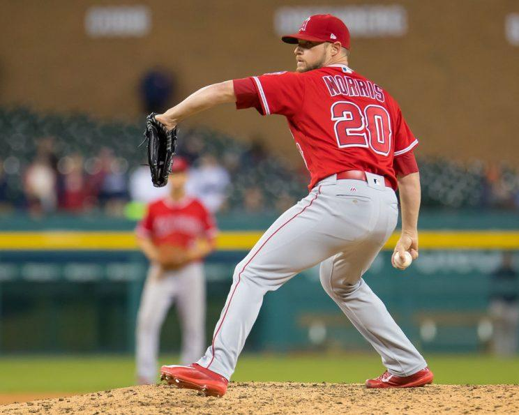 Bud Norris is dinged, so Cam Bedrosian should reclaim the ninth.